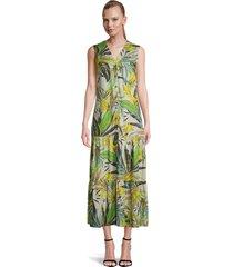 maxi dress palm print