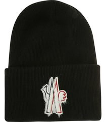 moncler symbol detail embroidery beanie