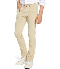 men's vintage 1946 modern fit stretch corduroy pants, size 36r - beige