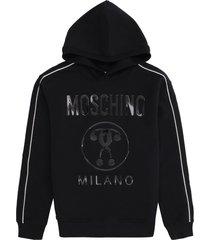 moschino cotton hoodie
