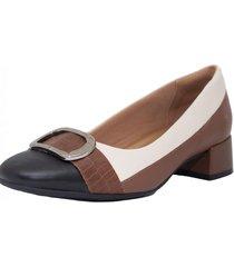 zapato marrón comfortflex clasico combinado
