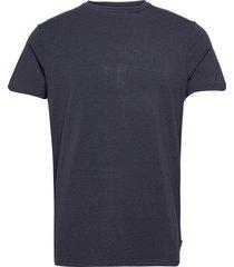 bamboo r-neck tee fsc t-shirts short-sleeved blå resteröds