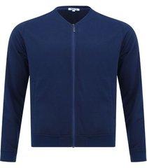 chaqueta hombre tipo bomber color azul , talla xs