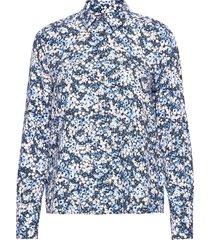 danee blouse ls overhemd met lange mouwen blauw tommy hilfiger