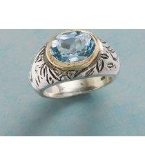 blue poppy ring