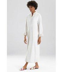 natori plush sherpa zip lounger sleep/lounge/bath wrap/robe, women's, white, size xs natori