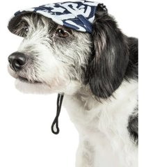 pet life 'bone cappa' graffiti sculptured uv protectant adjustable dog hat cap