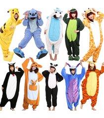 hot fancy dress cosplay onesie adult unisex hooded pyjamas animal sleepwear