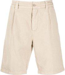 aspesi straight-leg chino shorts - neutrals