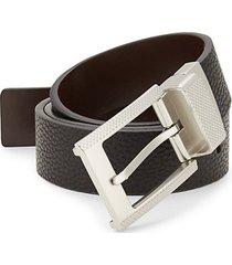 reversible faux leather belt