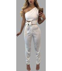 blanco con cordones diseño top corto y cremallera trasera diseño pantalones trajes