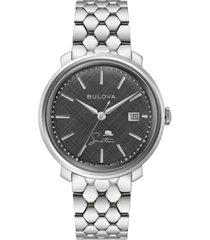 bulova men's frank sinatra automatic stainless steel bracelet watch 40mm