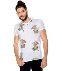 camiseta blanco-multicolor ocean pacific