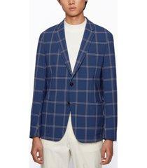 boss men's seersucker slim-fit jacket