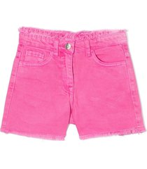 monnalisa pink cotton shorts