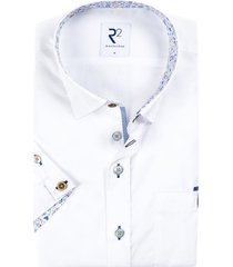 r2 korte mouwen shirt wit