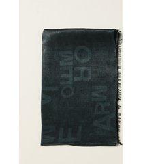emporio armani neck scarf emporio armani foulard with all over logo