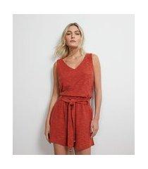 blusa regata em viscose texturizada | atelier | vermelho | p