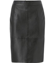 kjol slfmaily hw leather skirt