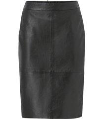 kjol slfmaily hw leather skirt