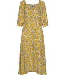 bronte midi dress maxiklänning festklänning gul faithfull the brand