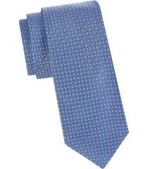 eton men's printed silk tie - blue