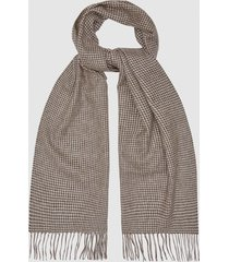 reiss brooks - wool cashmere blend scarf in oatmeal, mens