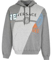 versace logo cotton hoodie