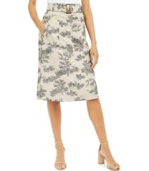 inc toile-print midi skirt, created for macy's