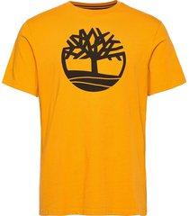 ss k-r brand tree t kortärmad skjorta gul timberland