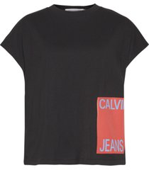 camiseta manga corta calvin jeans logo muscle t-shirt negro calvin klein