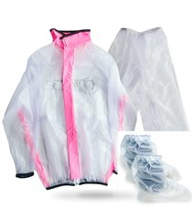 impermeable tres piezas con botas traje silicona reflectivo lluvia