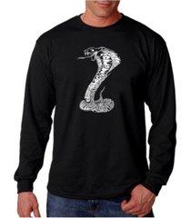 la pop art men's word art long sleeve t-shirt - tyles of snakes