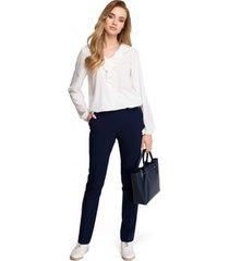 blouse style s104 blouse met ruche accenten - ecru