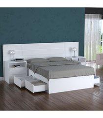 cama turca queen foscarini 4 gavetas 100% mdf 2228 branco