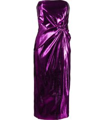 16arlington himwari metallic strapless midi dress - pink