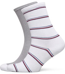 th women sock 2p lurex stripe lingerie hosiery socks vit tommy hilfiger