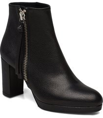 booties 3451 shoes boots ankle boots ankle boot - heel svart billi bi