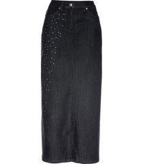 gonna di jeans lunga con strass (nero) - bpc selection