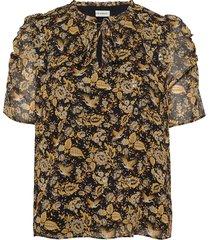 blouse blouses short-sleeved zwart sofie schnoor