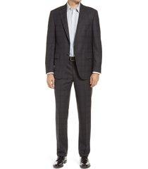 men's big & tall peter millar flynn plaid wool suit