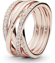 anel rosê grande brilho