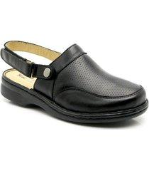 babuche doctor shoes conforto 371 com alça reversível em couro donna comfort