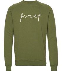 track sweatshirt sweat-shirt tröja grön forét