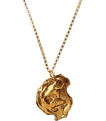 24kt gold-plated bronze rat necklace