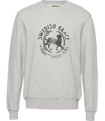 tana pr sweat-shirt trui grijs tiger of sweden jeans