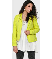 chaqueta only amarillo - calce regular