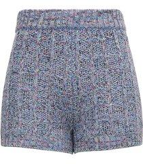 missoni wool check lurex shorts