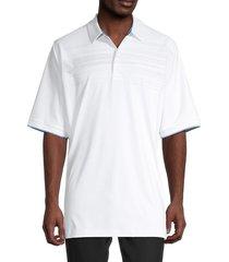 callaway men's faded stripe swing tech polo - bright white - size xxl