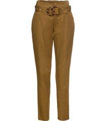 pantaloni chino a vita alta con cintura (beige) - rainbow